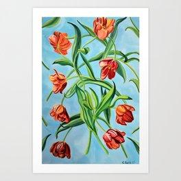 Happy Tulips Art Print