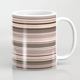 Mixed Striped Design Browns Taupe Creams Coffee Mug