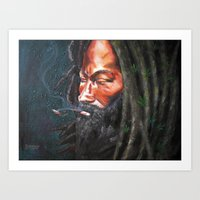 rasta Art Prints featuring Rasta by Bocese