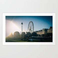 Paris, the big wheel from le jardin des Tuileries Art Print
