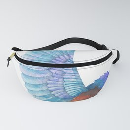 Cute Colorful Bird Watercolors Illustration Fanny Pack