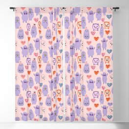 Funny monsters Blackout Curtain