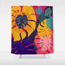 Aloha Floral Pop Art Pattern Shower Curtain
