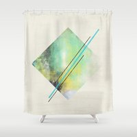 diamond Shower Curtains featuring DIAMOND by Allyson Johnson