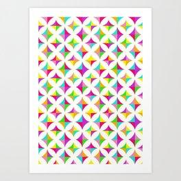 Colour Block 2 Art Print
