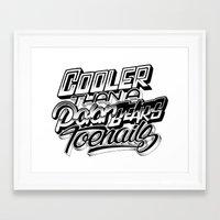 outkast Framed Art Prints featuring Cooler Than A Polar Bear's Toenails by Jon Finlayson