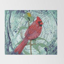 Virginia Cardinal Throw Blanket