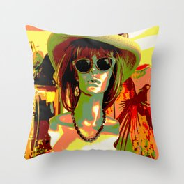 Vintage: Mad Hatter Throw Pillow