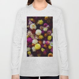 Pop Color Flowers (Color) Long Sleeve T-shirt