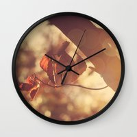 stay gold Wall Clocks featuring Stay Gold by Oh, Good Gracious!