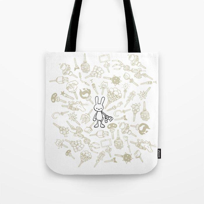 minima - beta bunny / gear Tote Bag