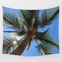 palm tree Wall Tapestries featuring Palm Tree by EPART