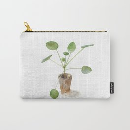 Pilea. Chinese money plant. Carry-All Pouch