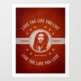 Marley - Red Art Print