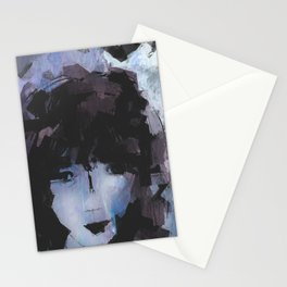 Abstract - Knowing Blue Stationery Cards