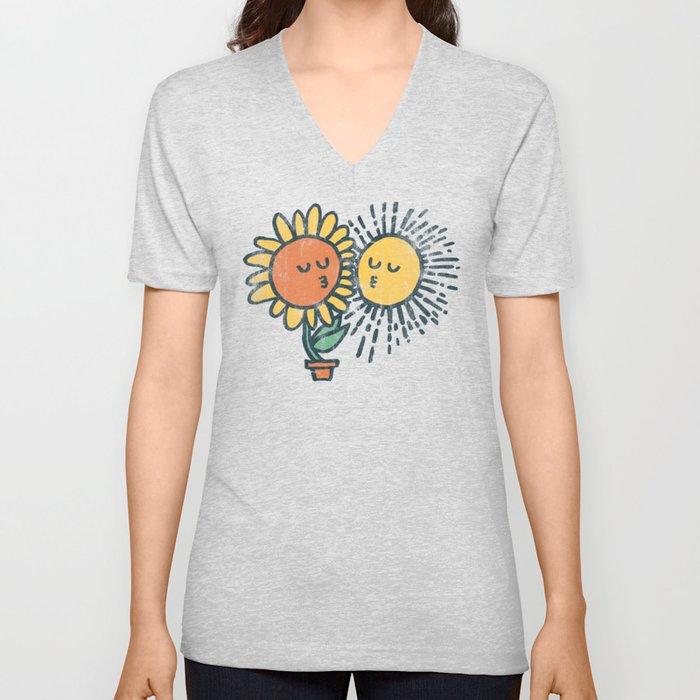 Sun Kissed sunflower Unisex V-Ausschnitt