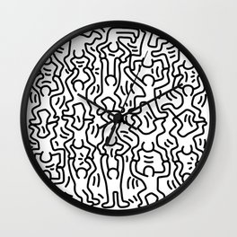 Homage to Keith Haring Acrobats Wall Clock