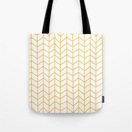Yellow Herringbone Tote Bag