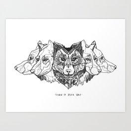 Learn To Speak Wolf Art Print
