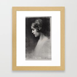 Jazz Age Portrait Framed Art Print