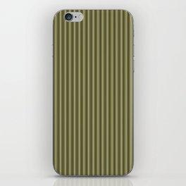 Trendy French Khaki Mattress Ticking Black Double Stripes iPhone Skin