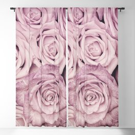 Some People Grumble - Pink Rose Pattern - Roses Garden Blackout Curtain
