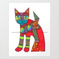 Cat Zen 10 Art Print