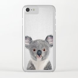 Baby Koala - Colorful Clear iPhone Case