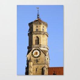 Hauptturm der Stiftskirche in Stuttgart Canvas Print
