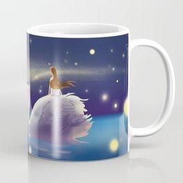 Beautiful Fly Swan And Girl Coffee Mug