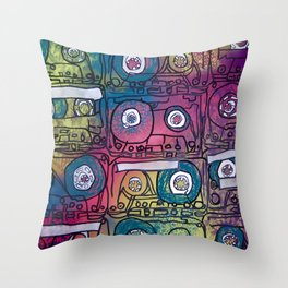 cassette tapes II Throw Pillow