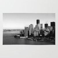manhattan Area & Throw Rugs featuring Manhattan  by Zakvdboom Designs