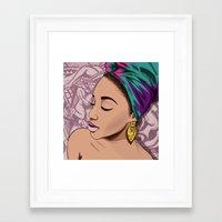 mcfreshcreates Framed Art Prints featuring ADRIENNE by McfreshCreates