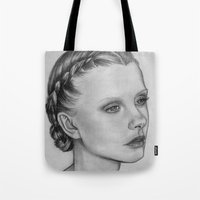 emily rickard Tote Bags featuring Emily by Kalynn Burke