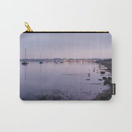 Boats and distant harbour reflected at twilight. Wells-next-the-sea, Norfolk, UK. Carry-All Pouch