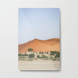 Kasbah in the sahara - travel photography & landscapes Metal Print