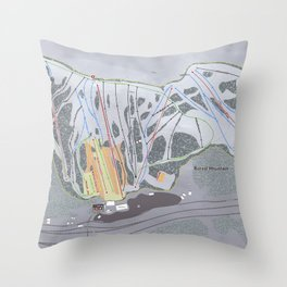 Boreal Resort Trail Map Throw Pillow