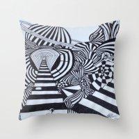 ninja Throw Pillows featuring Ninja by Biancasigns