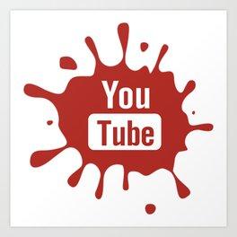 youtube youtuber - broadcast best design you tube for YouTube lover Art Print
