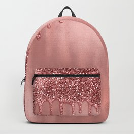 Dripping in Rose Gold Glitter Backpack