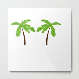 Green Palm trees Metal Print