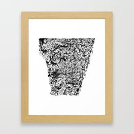 Pile of Hatred, Malice and uncontrollable Madness Framed Art Print