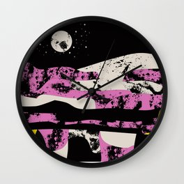 Pink Vibe 2 Wall Clock