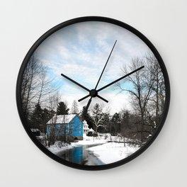 Walnford Mill Winter Upper Freehold, New Jersey Wall Clock