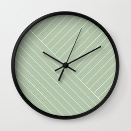 Abstract geometric lines mint Wall Clock