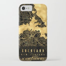 Auckland Map New Zealand iPhone Case