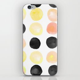 Peach + Coal Dots iPhone Skin
