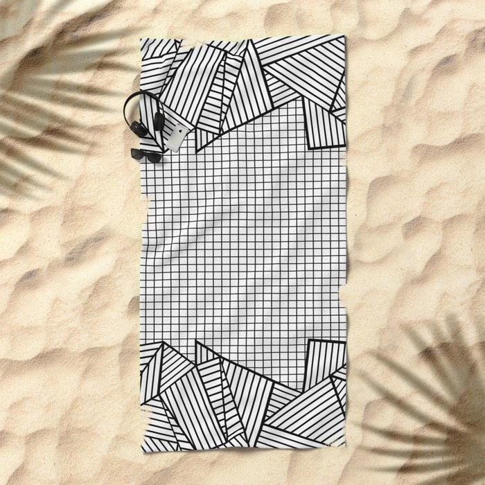 Grids and Stripes Beach Towel