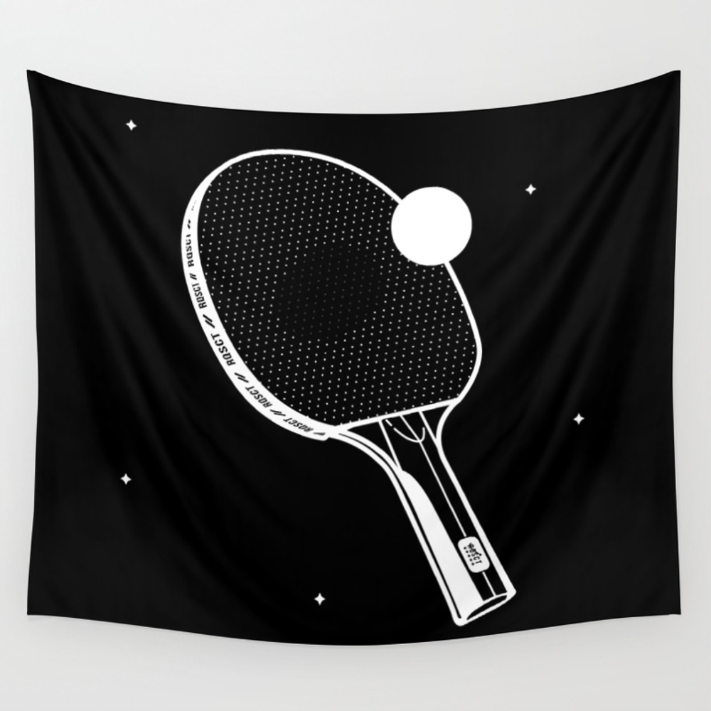 Ping Pong Wall Tapestry by Rqsct TPS7247076