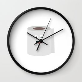 Toilet paper with face Wall Clock